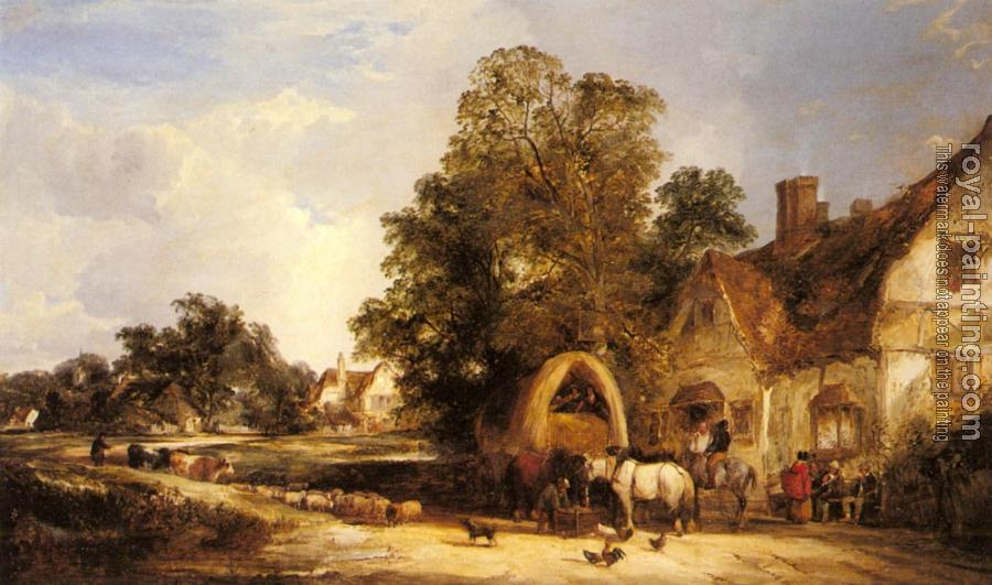Snr William Shayer : The Half Way House Thatcham