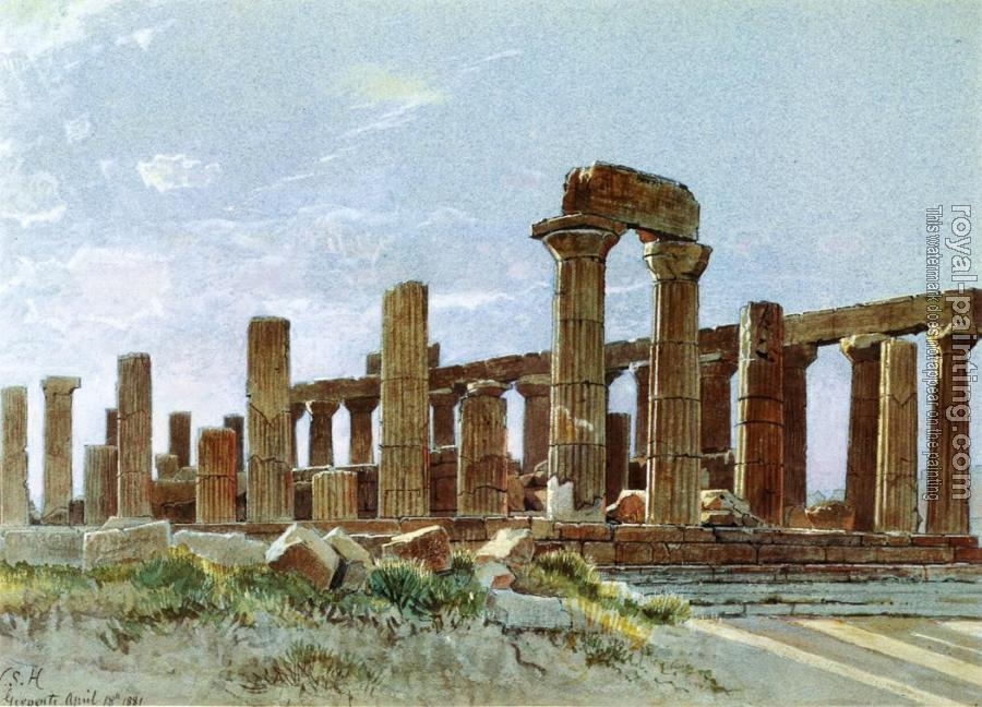 William Stanley Haseltine : Agrigento aka Temple of Juno Lacinia