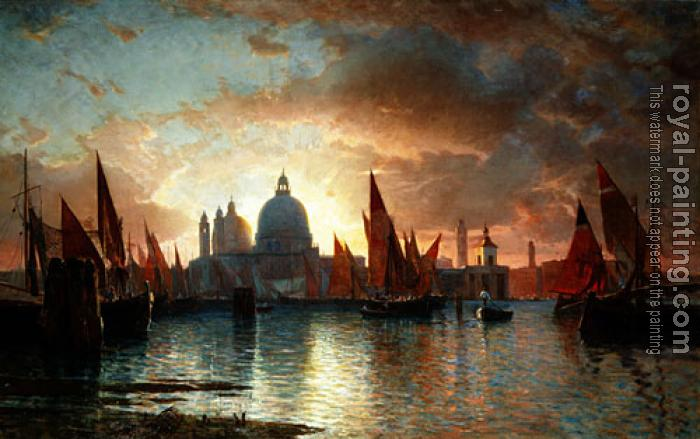 William Stanley Haseltine : Santa Maria Della Salute Sunset