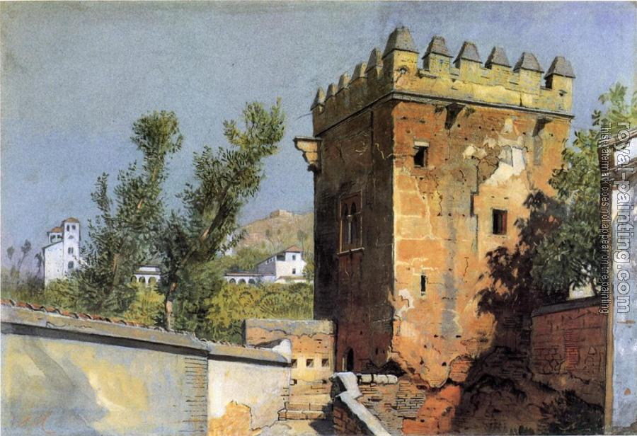 William Stanley Haseltine : View from the Alhambra Spain