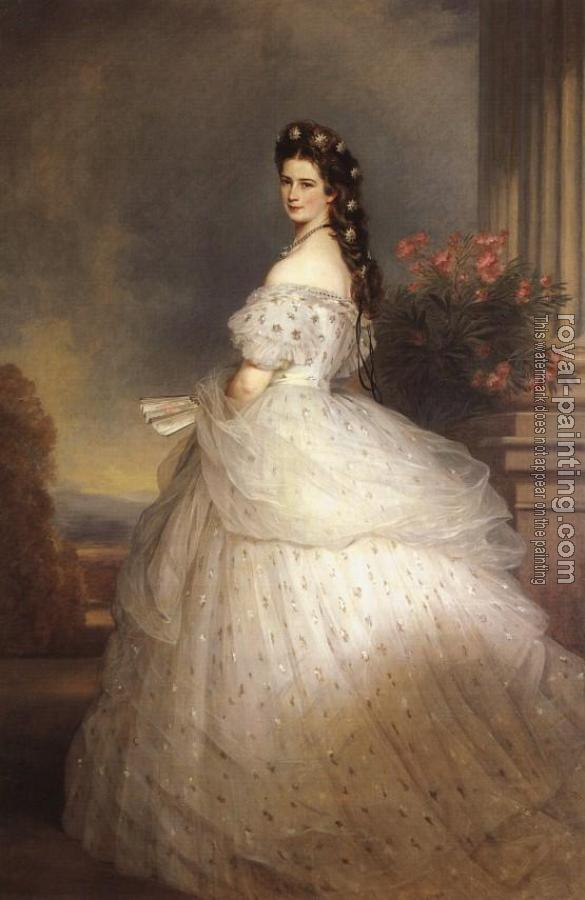 Empress Elisabeth of Austria with diamond stars on her hair