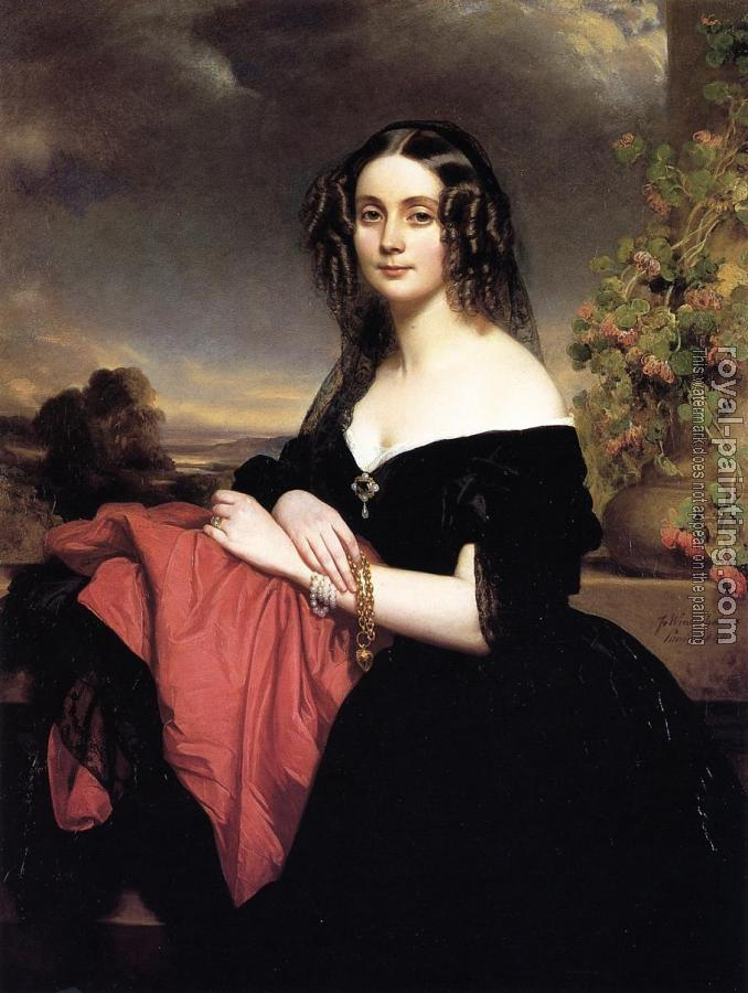 Franz Xavier Winterhalter : Portrait of Claire de Bearn Duchess of Vallombrosa