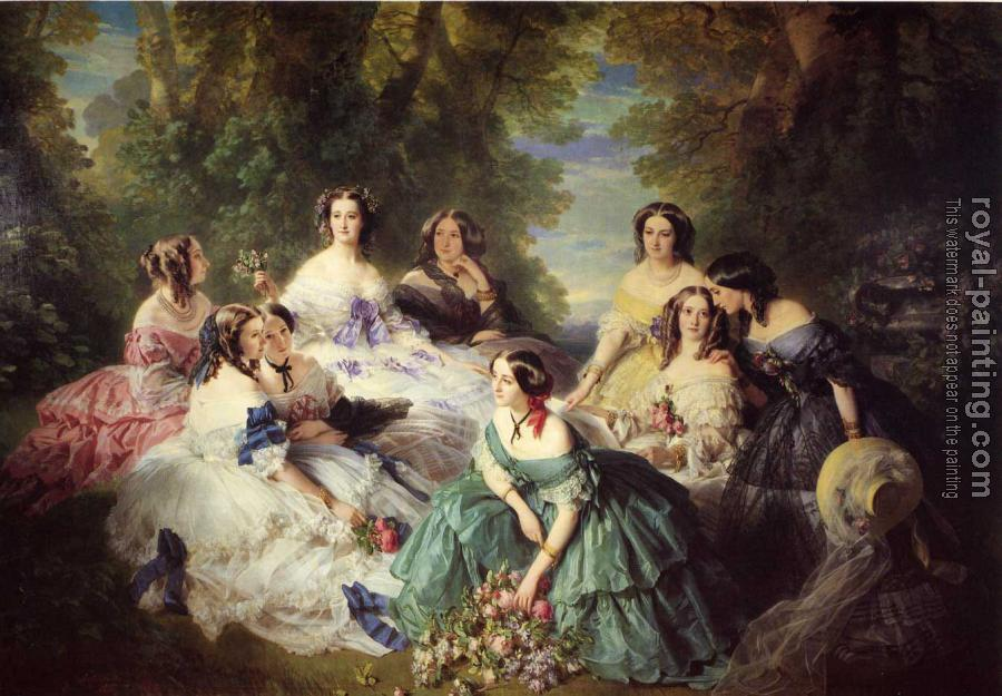 Franz Xavier Winterhalter : The Empress Eugenie Surrounded by her Ladies in Waiting