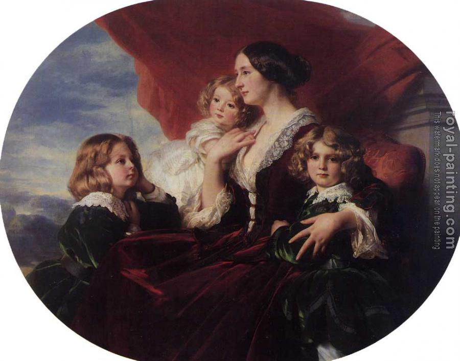 Franz Xavier Winterhalter : Elzbieta Branicka Countess Krasinka and her Children