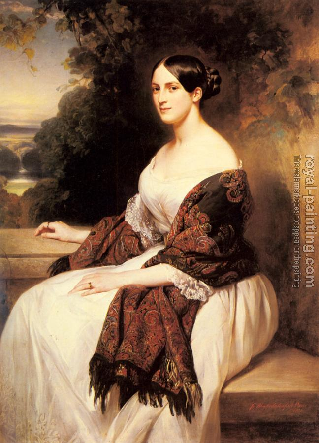 Franz Xavier Winterhalter : Portrait Of Madame Ackerman II