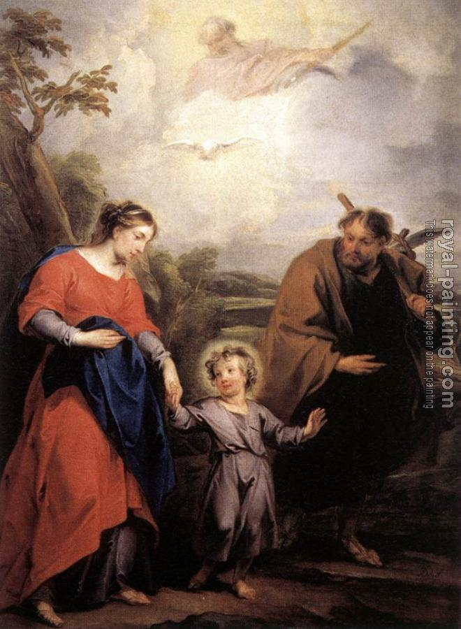 Jacob De Wit : Holy Family and Trinity