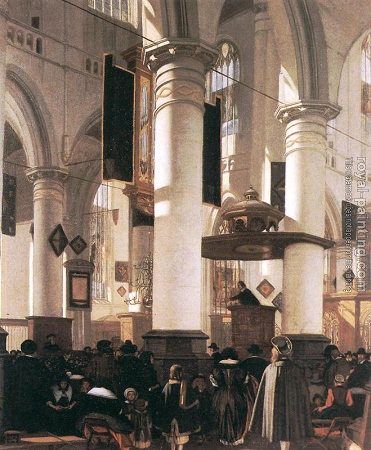Emanuel De Witte : Interior of a Church II