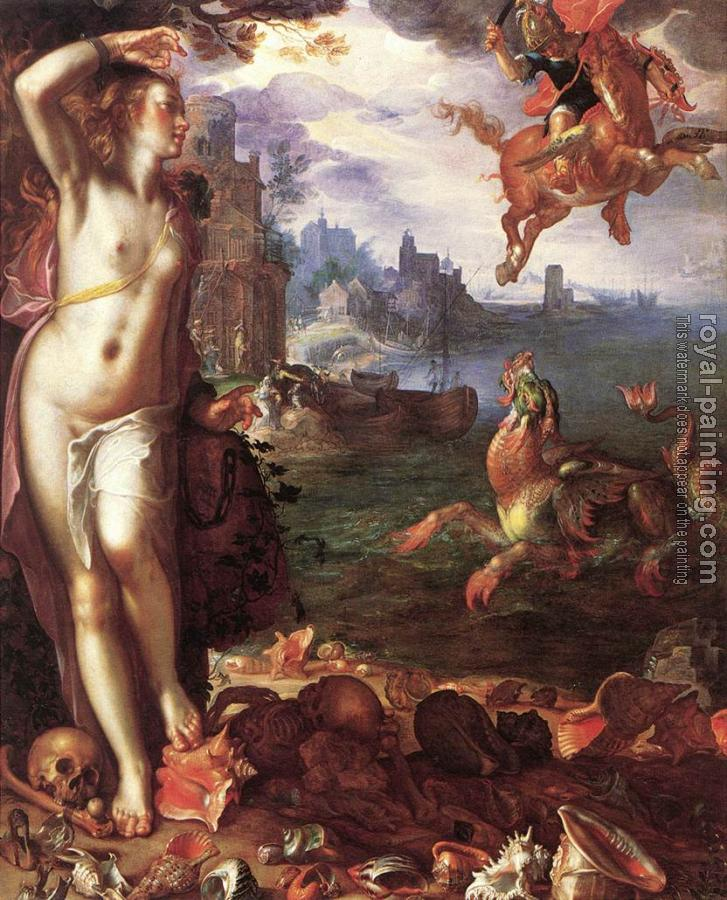 Joachim Anthonisz Wtewael : Perseus and Andromeda