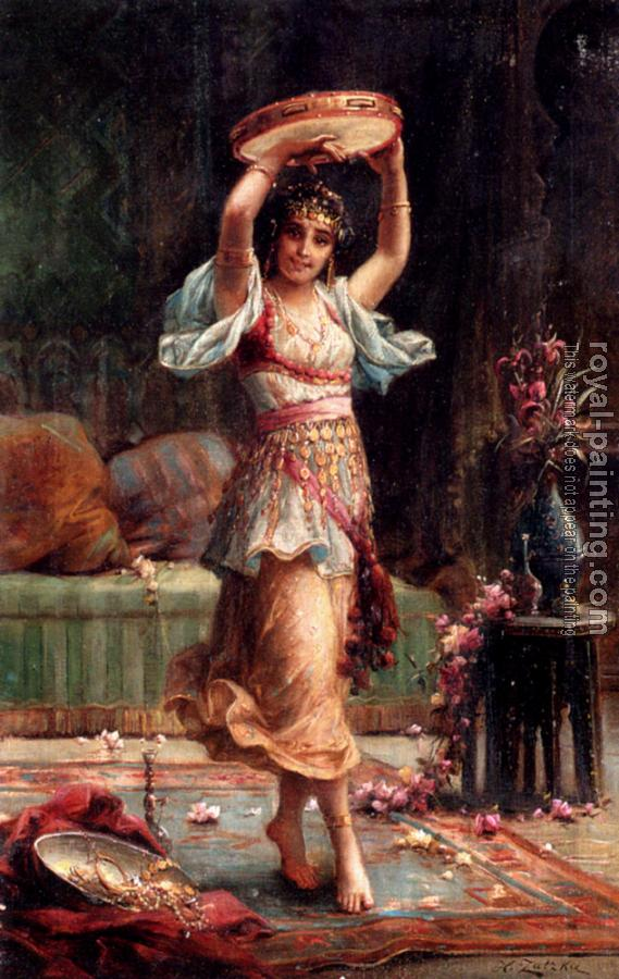 Hans Zatzka : The Tambourine Player