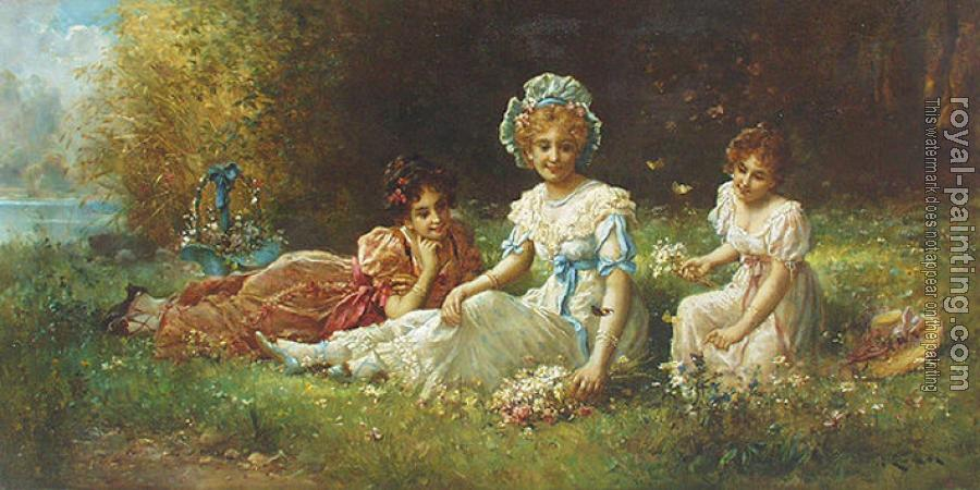 Hans Zatzka canvas painting IV
