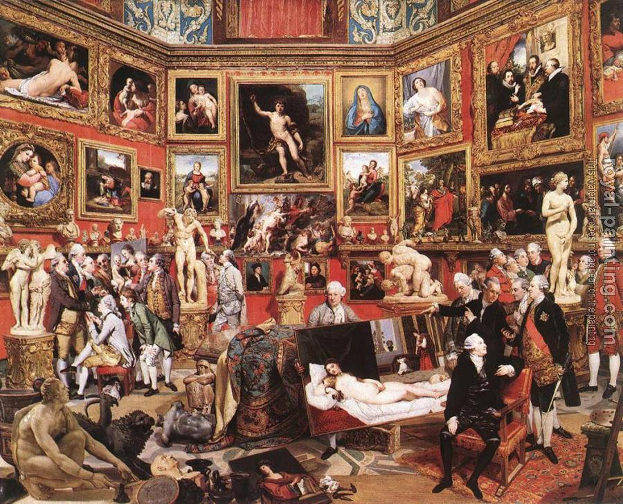 Johann Zoffany : The Tribuna of the Uffizi