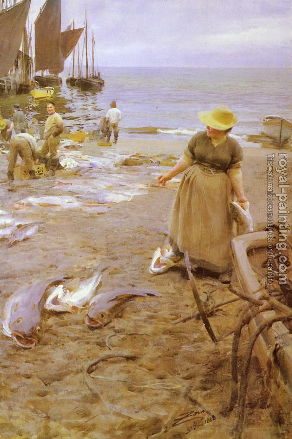 Anders Zorn : Fiskmarknad I St Ives