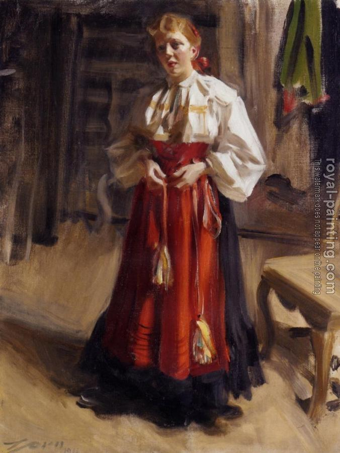 Anders Zorn : Girl in an Orsa Costume