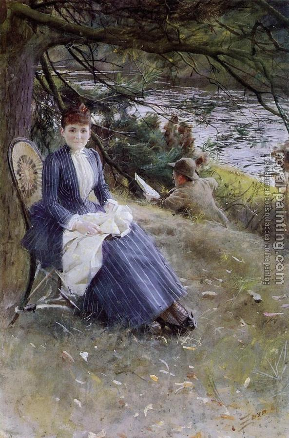 Anders Zorn : Mrs Symons in Scotland