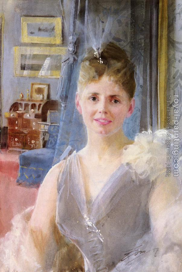 Anders Zorn : Portrait Of Edith Palgrave Edward