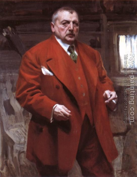 Anders Zorn : Self-Portrait in red