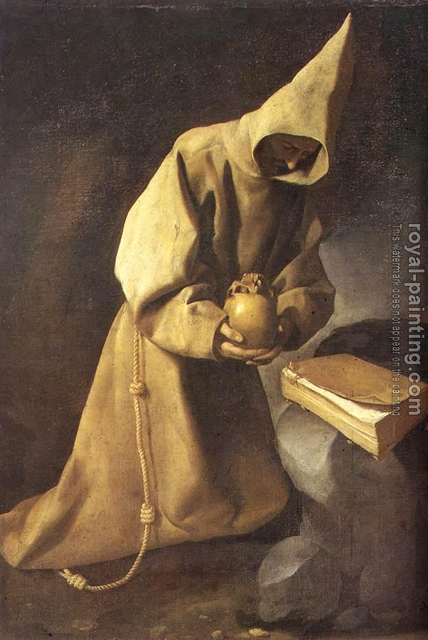Francisco De Zurbaran : Meditation of St Francis