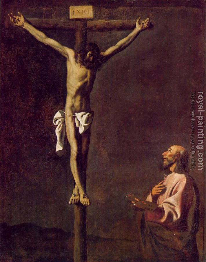 Francisco De Zurbaran : Saint Luke as a Painter before Christ on the Cross